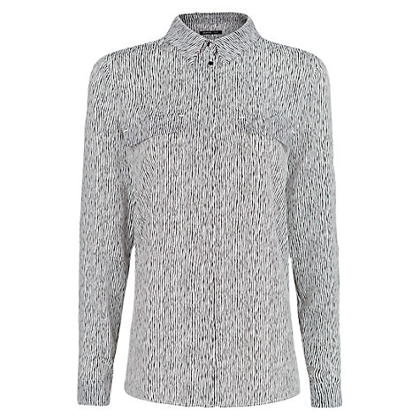 Buy Mango Striped Light Blouse, Black Online at johnlewis.com