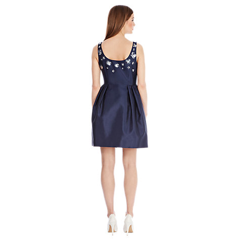 Buy Coast Enchanted Embellished Dress, Navy Online at johnlewis.com