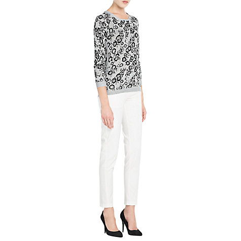Buy Mango Embossed Flower Sweatshirt, Medium Grey Online at johnlewis.com