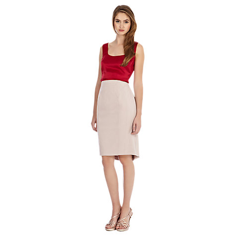Buy Coast Addie Pencil Skirt, Oyster Online at johnlewis.com
