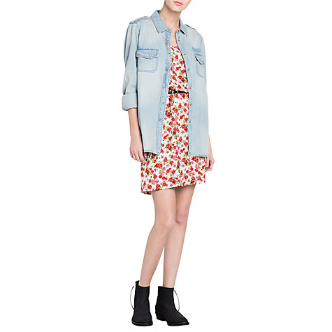 Buy Mango Medium Wash Denim Shirt, Blue Online at johnlewis.com