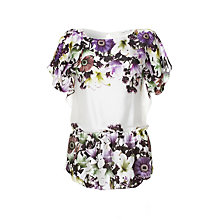 Buy Damsel in a dress Lily Forest Printed Top, White Online at johnlewis.com