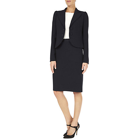 Buy Hobbs Invitation Freya Jacket, Navy Online at johnlewis.com