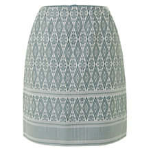 Buy NW3 by Hobbs Diamond Skirt, Teal Green Ivory Online at johnlewis.com