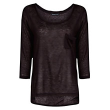 Buy Mango Pocket Light T-Shirt, Black Online at johnlewis.com