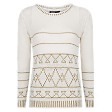 Buy Mango Metallic Details Jumper, Natural White Online at johnlewis.com