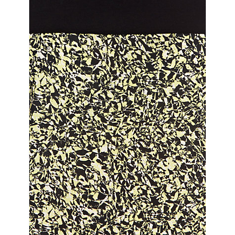 Buy Warehouse Bright Non-Print T-Shirt, Black/Pattern Online at johnlewis.com