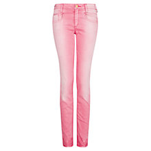 Buy Mango Distressed Jeans, Medium Pink Online at johnlewis.com