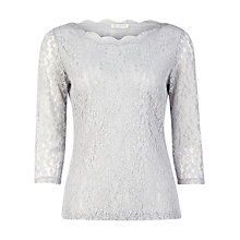 Buy Planet Scallop Edge Lace Top, Grey Online at johnlewis.com