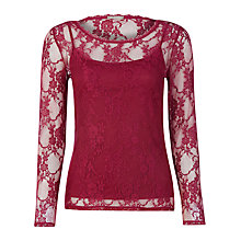 Buy Planet Cherry Lace Top, Cherry Online at johnlewis.com