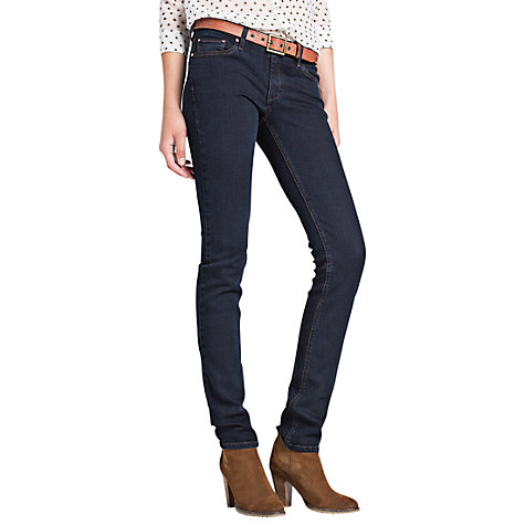 Buy Mango Super Slim Fit Jeans, Dark Blue Online at johnlewis.com