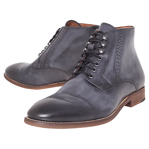 Buy KG by Kurt Geiger Pirlo Leather Lace Up Boots Online at johnlewis.com