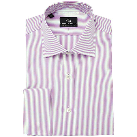 Buy Chester Barrie James Ladder Stripe Long Sleeve Shirt Online at johnlewis.com
