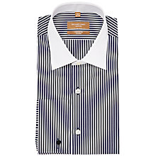 Buy Richard James Mayfair Bold Stripe Contrast Collar Long Sleeve Shirt Online at johnlewis.com