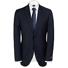 Buy John Lewis Premium Wool Pinstripe 2-Piece Suit, Navy Online at johnlewis.com