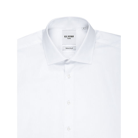 Buy Ben Sherman Tailoring Plain Poplin Long Sleeve Shirt, White Online at johnlewis.com