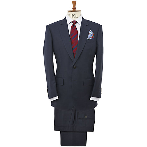 Buy Chester Barrie Classic Tonal Glen Check Suit, Navy Online at johnlewis.com