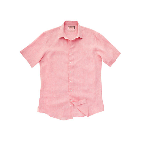 Buy Thomas Pink Standish Plain Linen Short Sleeve Shirt Online at johnlewis.com