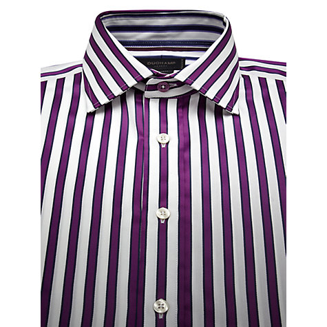 Buy Duchamp Edge Stripe Long Sleeve Shirt Online at johnlewis.com