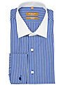 Richard James Mayfair Bold Stripe Contrast Collar Long Sleeve Shirt