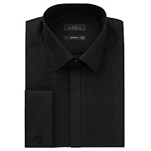 Buy John Lewis Narrow Pleat Point Collar Dress Shirt, Black Online at johnlewis.com