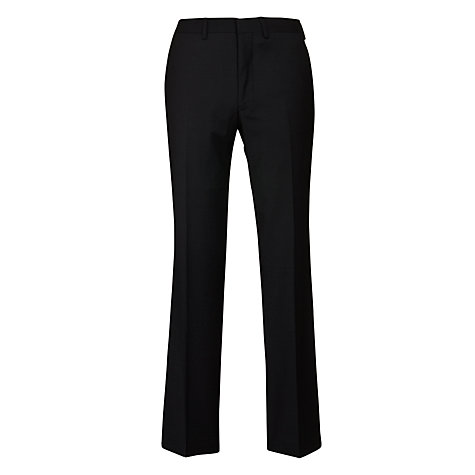 Buy Simon Carter Plain Suit Trousers, Black Online at johnlewis.com