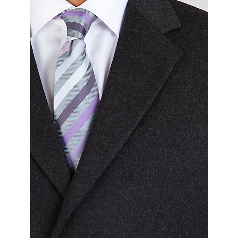 Buy John Lewis Wool Blend Slant Pocket Overcoat, Charcoal Online at johnlewis.com