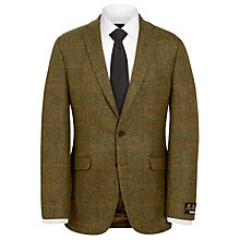 Buy Barbour Tack Estate Check Wool Jacket, Brown/Multi Online at johnlewis.com