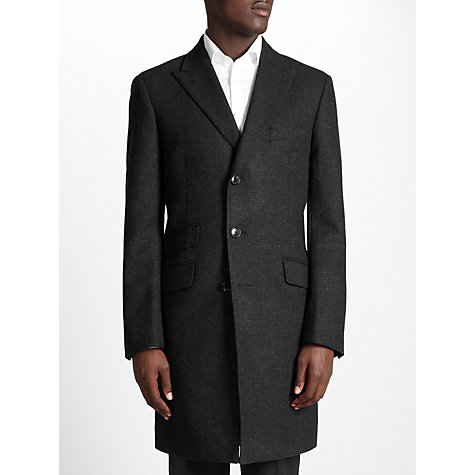 Buy John Lewis English Check Peak Lapel Overcoat Online at johnlewis.com