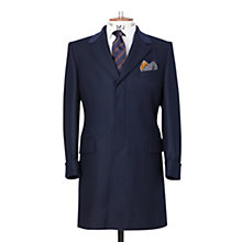 Buy Chester Barrie Savile Row Velvet Collar Coat, Navy Online at johnlewis.com