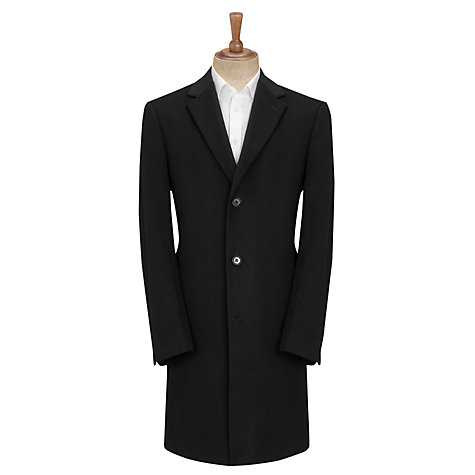 Buy John Lewis Wool Blend Slant Pocket Coat, Navy Online at johnlewis.com