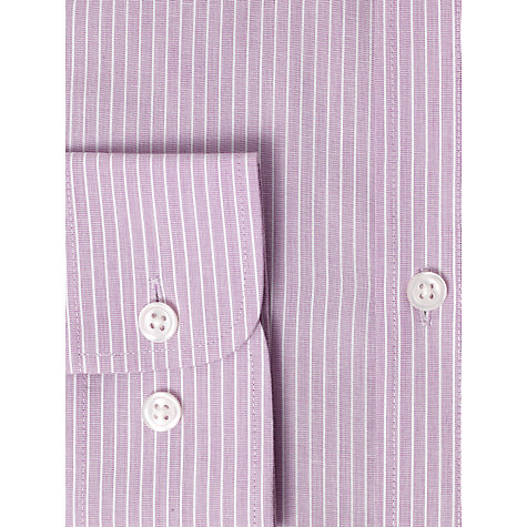 Buy John Lewis Tailored Fine Stripe Shirt, Lilac Online at johnlewis.com