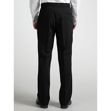 Buy Daniel Hechter Wool Flat Front Dinner Suit Trousers, Black Online at johnlewis.com