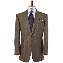 Buy Chester Barrie Savile Row Classic Flannel Glen Check Jacket, Brown Online at johnlewis.com