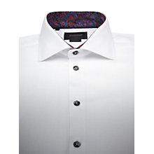 Buy Duchamp Herringbone Print Contrast Long Sleeve Shirt Online at johnlewis.com