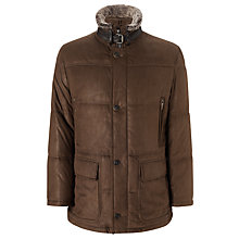 Buy Bugatti Microma Faux Fur Collar Coat Online at johnlewis.com