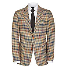 Buy Daks Houndstooth Plaid Blazer, Brown/Multi Online at johnlewis.com