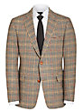 Daks Houndstooth Plaid Blazer, Brown/Multi