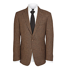 Buy Daks Single Breasted Blazer, Brown Online at johnlewis.com
