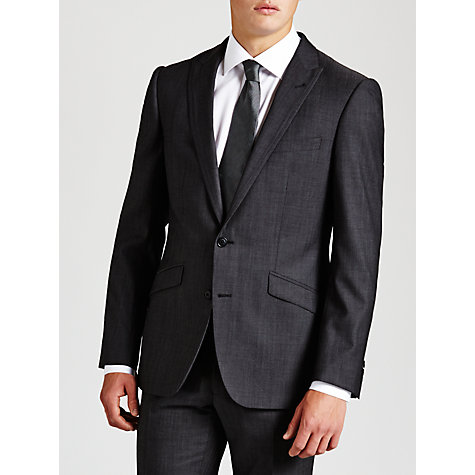 Buy Simon Carter Twill Suit Jacket, Charcoal Online at johnlewis.com