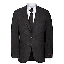 Buy Barbour Bridle Herringbone Tailored Jacket, Black Online at johnlewis.com