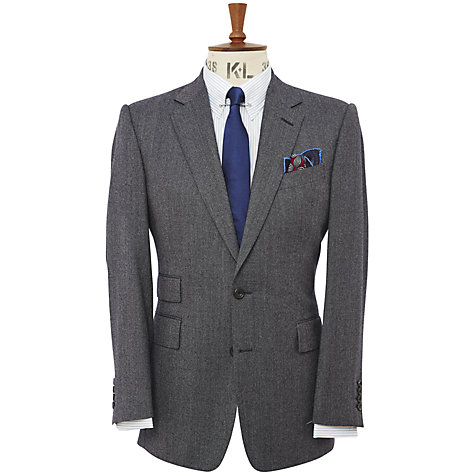 Buy Chester Barrie Savile Row Semi Plain Flannel Jacket Online at johnlewis.com