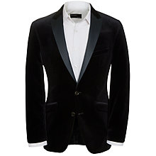 Buy West End by Simon Carter Velvet Peak Lapel Jacket Online at johnlewis.com