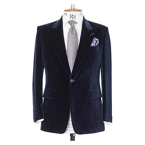 Buy Chester Barrie Peak Lapel Velvet Jacket Online at johnlewis.com