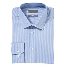 Buy John Lewis Tailored Fine Stripe Shirt, Blue Online at johnlewis.com