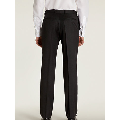 Buy Hardy Amies Milled Twill Suit Trousers, French Charcoal Online at johnlewis.com