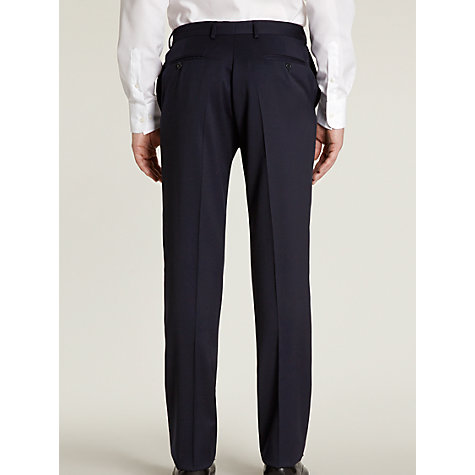 Buy Hardy Amies Milled Twill Suit Trousers, French Navy Online at johnlewis.com