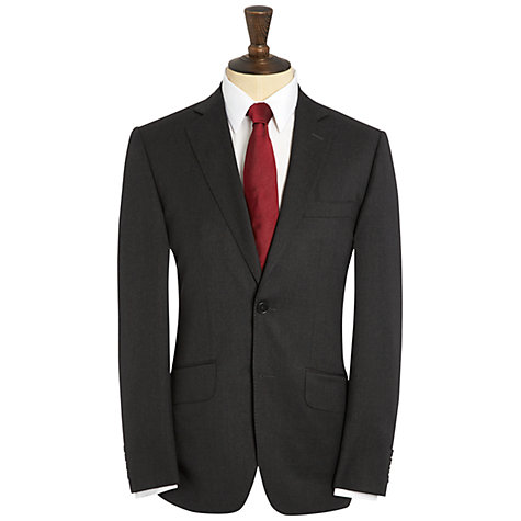Buy Hardy Amies Milled Twill Suit Jacket, French Charcoal Online at johnlewis.com