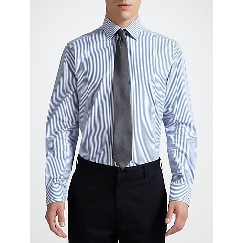 Buy John Lewis Tailored Bengal Stripe Shirt, Blue Online at johnlewis.com