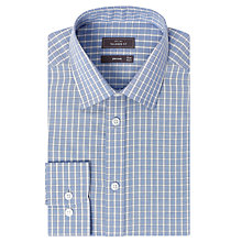 Buy John Lewis Tailored Check Shirt, Blue Online at johnlewis.com